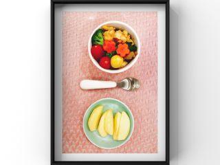 蔬菜鸡腿饭,摆盘!