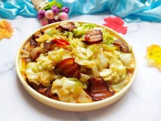 干锅腊肉包菜,美美图片来一张。