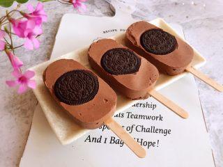 奥利奥巧克力雪糕,成品