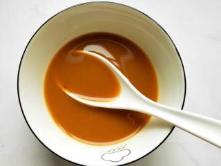 鱼香鸡蛋(内附鱼香汁的调制),三勺清水,搅拌均匀,鱼香汁就做好啦!