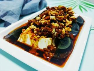 肉沫皮蛋花生豆腐