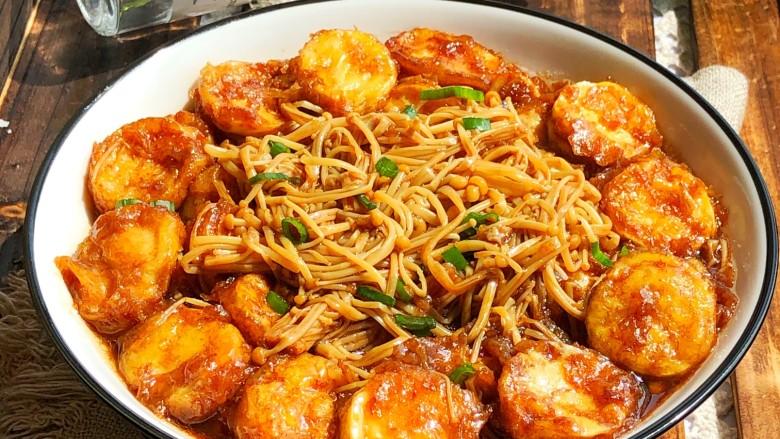 金针菇豆腐,可以开吃了!