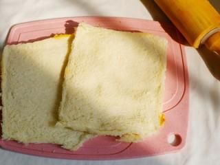 无敌简单的香蕉土司卷,这样就可。