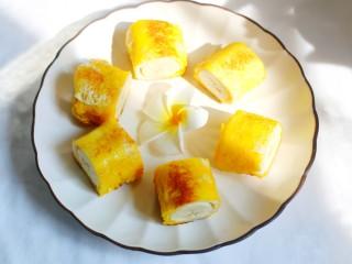 无敌简单的香蕉土司卷,味道太赞了!