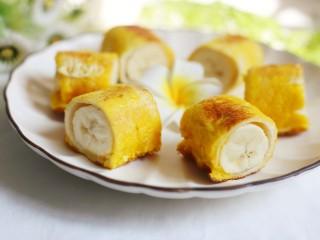 无敌简单的香蕉土司卷,好吃到停不下来。
