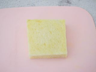 芒果酸奶吐司,再铺上另一片吐司