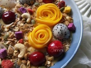 芒果思慕雪,好看又好吃。低脂又营养。