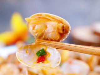 辣炒花蛤,肉质很嫩