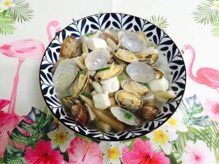 花蛤菌菇豆腐汤