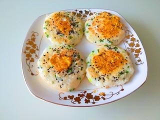 米饭鸡蛋山药饼