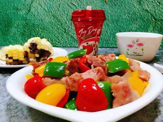 彩椒炒牛肚头,每一餐都应该有一点粗粮和酸奶的营养成分