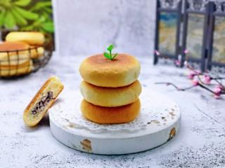 蜜豆喜饼~香甜松软,宝贝一口气吃三个。