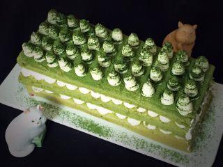 抹茶芒果裸蛋糕