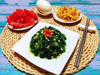 蒜蓉菠菜,早餐是一天中最重要的一餐必须好好吃噢