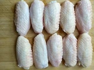可乐鸡翅,准备十个鸡翅