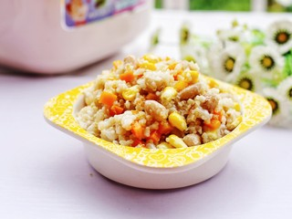 宝宝最爱的藜麦杂蔬饭~,开吃。