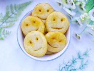 超可爱的笑脸土豆饼,成品。