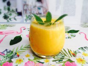芒果奶昔+夏天的味道