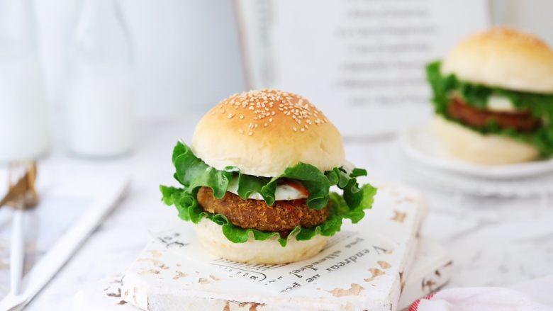 猪排汉堡包,成品图