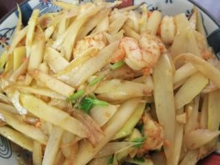海虾炒芦笋