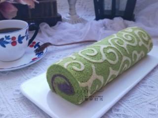 唐草彩绘蛋糕卷