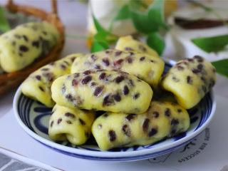 玉米面蜜豆卷