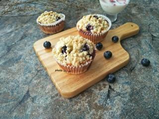 藍莓酥粒蛋糕,成品