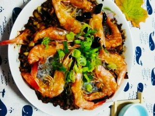 粉丝蒜泥虾,成品图