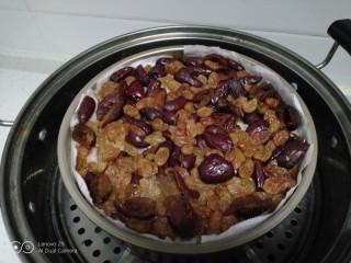 家庭版甑糕,放入蒸锅,大火煮开转中火蒸40分钟。