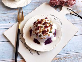 酸奶紫薯泥,成品