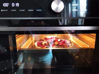 蒜蓉茄子芝麻菜,水箱放满水,100°,蒸20分钟