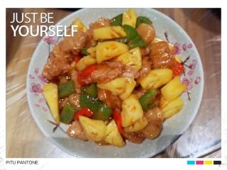 菠萝咕咾肉,酸甜可口的菠萝咕咾肉就做好啦 一分钟不到就吃光光啦🤗