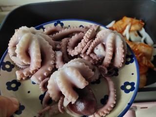 家常韩式部队锅,放八爪鱼