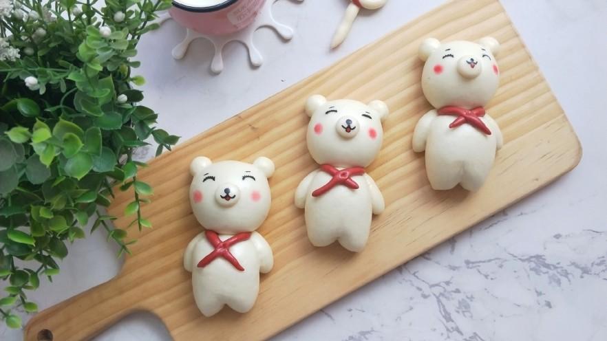红领巾小熊馒头