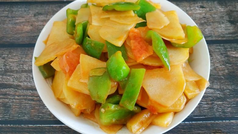 西红柿青椒土豆片