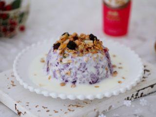 酸奶紫薯泥,成品圖