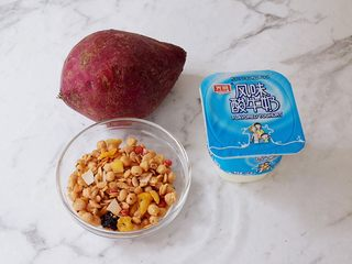 酸奶紫薯泥,準備好材料