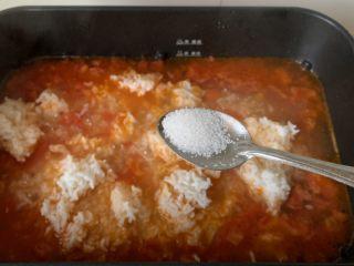 番茄浓汤烩饭,加点盐