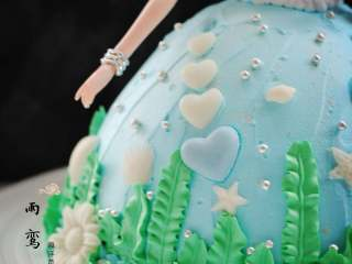 海洋芭比蛋糕,成品