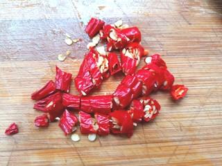 炒豌豆凉粉,切碎