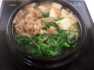 砂锅豆腐汆羊肉,烧开即可
