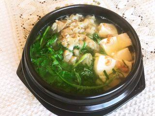 砂锅豆腐汆羊肉,砂锅豆腐汆羊肉做好了~