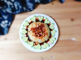 黄瓜拌皮冻,非常漂亮