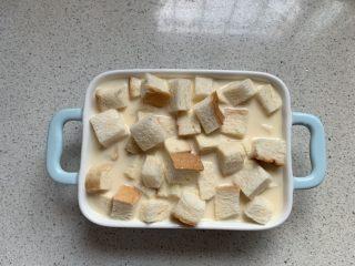 吐司布丁,烤碗稍微大一点哦