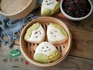 粽子饼夹&肉末梅干菜,可爱的粽子饼夹出锅啦。