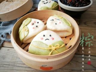 粽子饼夹&肉末梅干菜,夹着自己喜欢的馅料美美的吃起来吧!