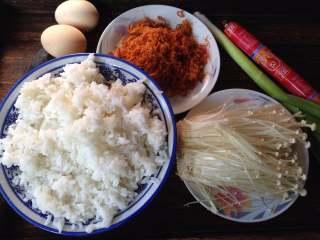 酱油什锦炒饭,准备食材