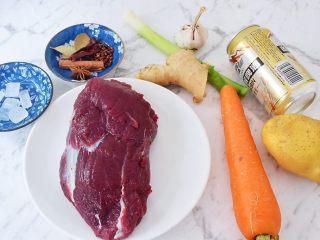 啤酒炖牛肉,准备好材料