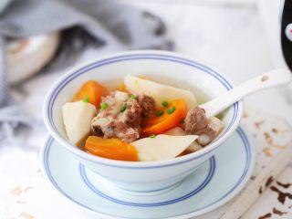排骨山药胡萝卜汤,图四
