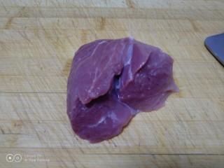 家常麦烧,🐷前腿肉洗干净。